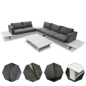 SALON DE JARDIN  Set salon de jardin en aluminium table basse canap