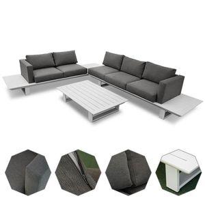 Salon de jardin aluminium avec table basse