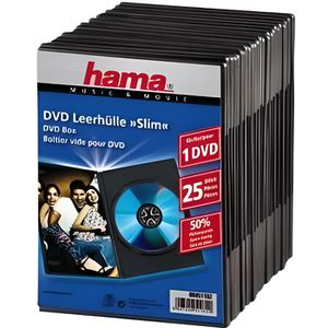 RANGEMENT CD-DVD HAMA 51182 Lot de 25 Boitiers DVD Slim - Noir