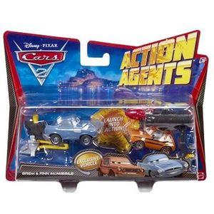 VOITURE - CAMION Mattel - Cars 2 - Coffret Combat Action Agent