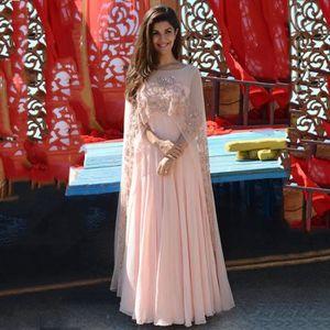 ROBE DE CÉRÉMONIE Robe de Soirée Femme longue traîne col rond décoré