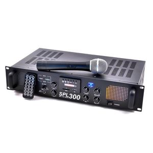AMPLI PUISSANCE SKYTEC SPL 300VHF amplificateur sonorisation USB S
