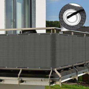 CLÔTURE - GRILLAGE Sol Royal Brise vue pour balcon 300x90cm Anthracit