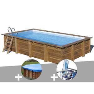 PISCINE Kit piscine bois Sunbay Evora 6,00 x 4,00 x 1,33 m