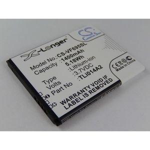 Batterie téléphone vhbw Li-Ion batterie 1400mAh pour téléphone portab