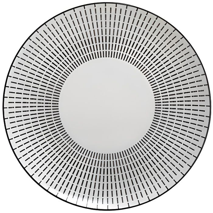 Assiette plate Lunis - D 27 cm - Noir
