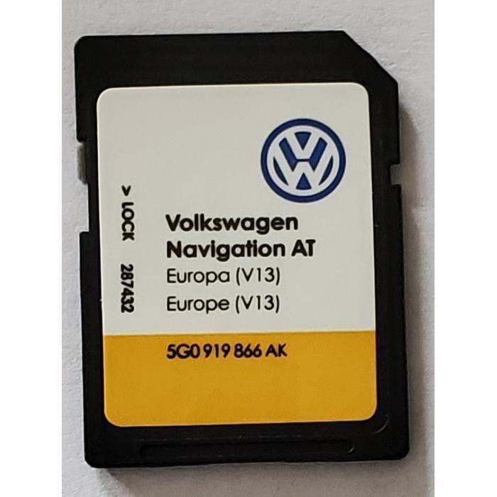 Carte SD Europe - Navigation AT - Volkswagen VW Discover Media 1 MIB1 - v13 - 5G0919866AH