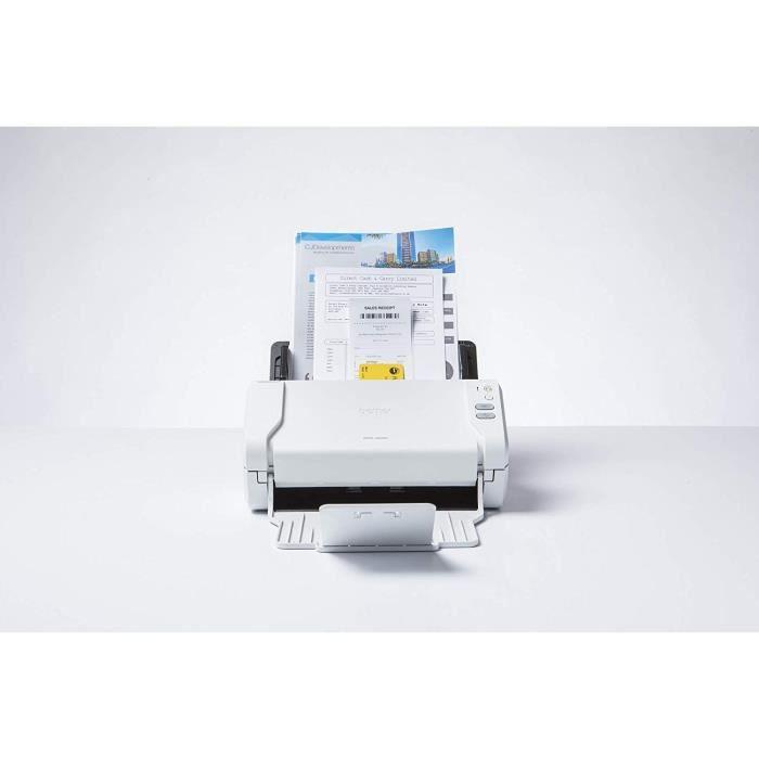 Brother Ads 2200 Scanner Bureautique à Défilement Couleur A4 Scan en une Seule Touche vers Pc et Clé Usb