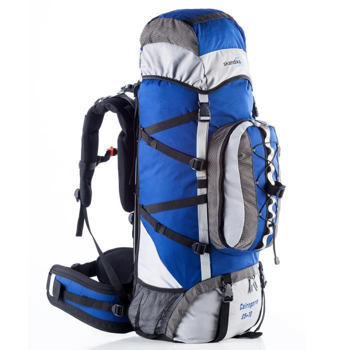 SKANDIKA Cairngorm 85+10 Sac à dos trekking randonnée - Bleu
