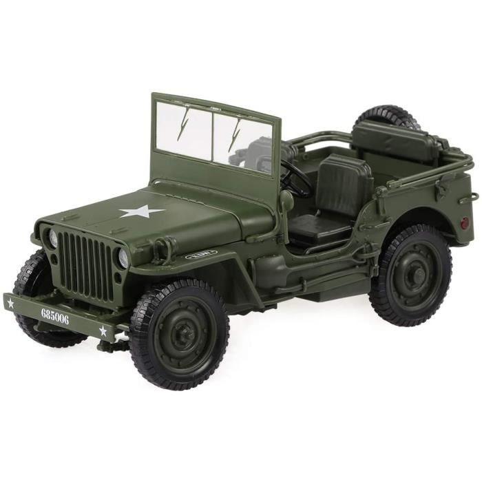 1/18 Voiture de Jouet Militaire Jeep Tactics Modèle Militaire de Voiture Décoration et Cadeau pour Enfants