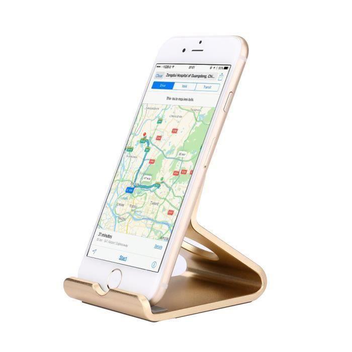 goushoopsupport en aluminium universel de berceau de support de tableau de support de bureau pour l'étiquette de téléphone