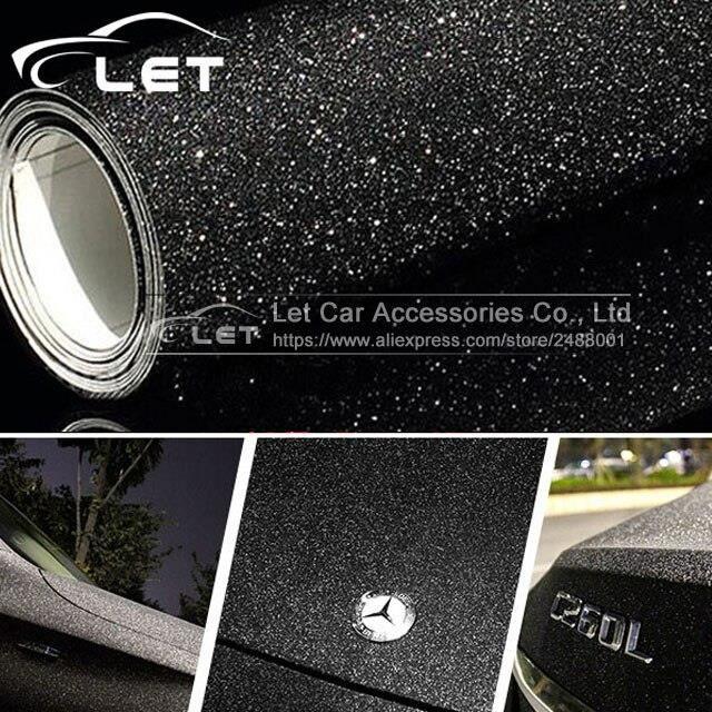 Voiture style noir paillettes diamant brillant vinyle Films enveloppement pour carrosserie voiture autocollant Auto déco LX7717