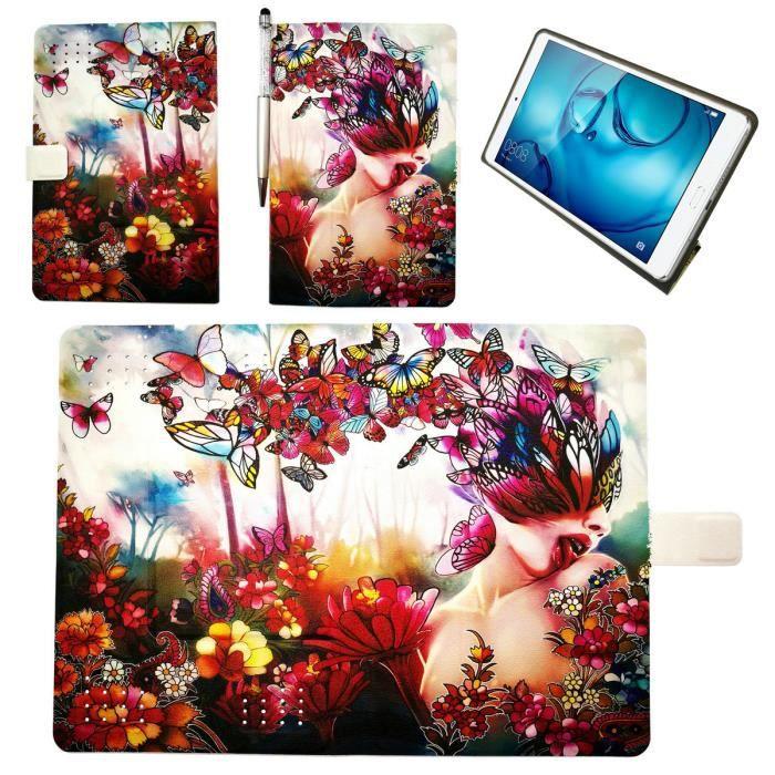 Housse Étui Coque pour Huawei Dtab D 01h Mediapad M2 10.1 M2 A04l Tablette Coque Hd