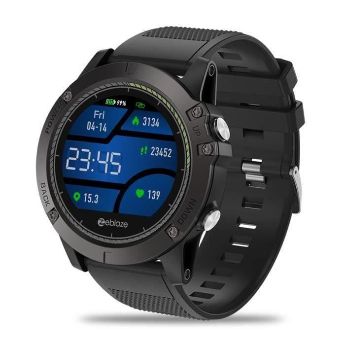 Montre Connectée Smartwatch IP67 Étanche Dispositif Portable Moniteur Fréquence Cardiaque IPS Ecran Couleur Sport NOIR Bo54387