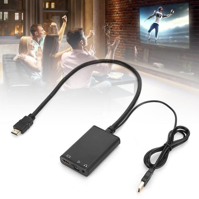 Répartiteur Audio Hdmi En Abs Noir Séparateur Fibre Optique Hdmi Vers Hdmi + Audio (Spdif) 4K * 2K 3D(Noir )-NIM