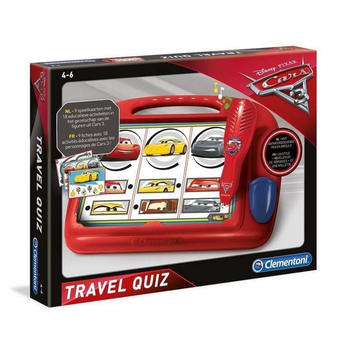 jeu apprentissage Clementoni Cars 3 Quiz Voyage