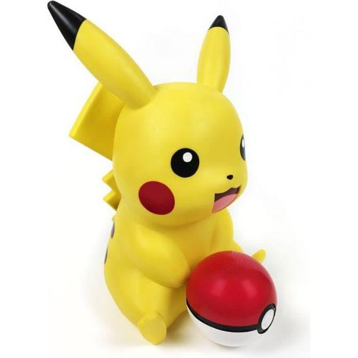 TEKNOFUN - Figurine Pikachu lumineuse - enceinte Poke Ball sans fil