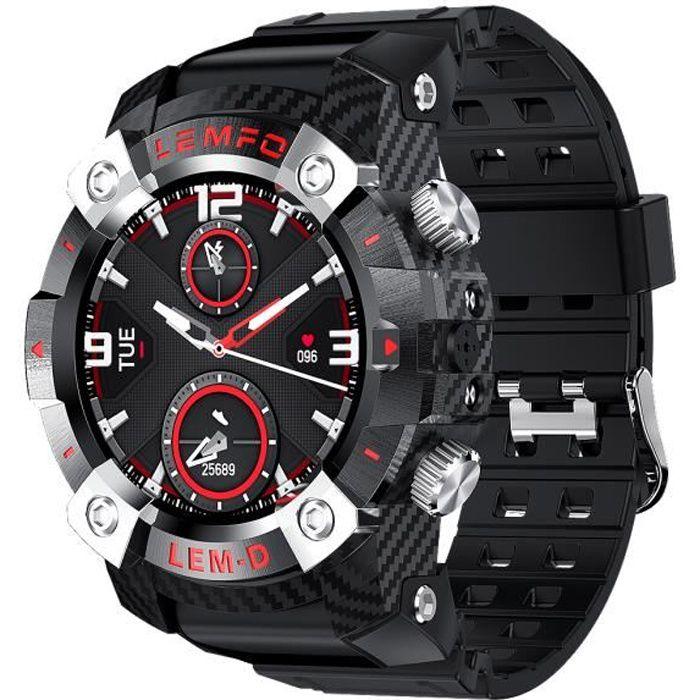 LEMFO LEMD Smartwatch + TWS Earbuds Set 1.3-inch TFT Touchscreen Big Face Rugged Watch IP67 Waterproof Sport Watch + True Wireless