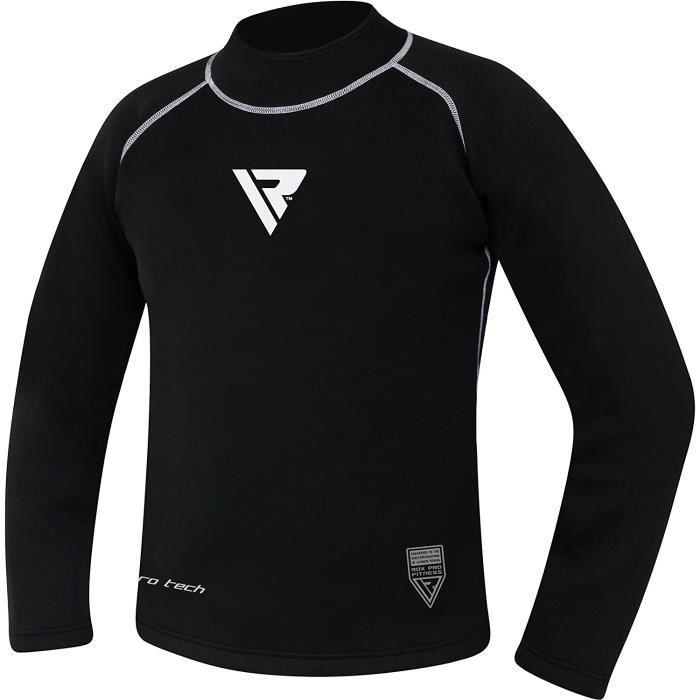 RDX MMA Chemise de Compression Rashguard Debardeur Sport Combat Rash Vest Manche Longue Courte Shirt
