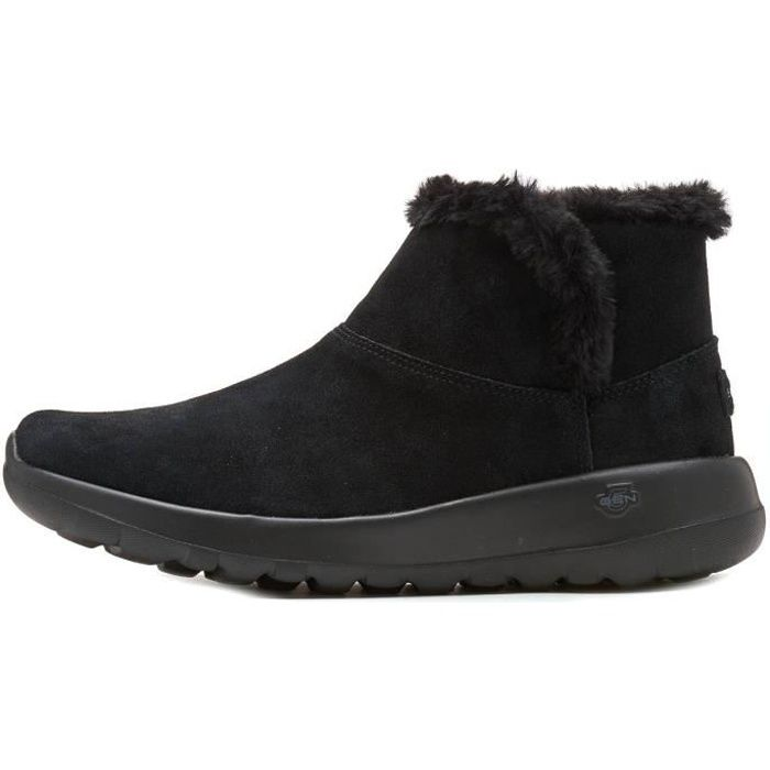 Skechers On The- Go Joy Bundle Up Suède Femmes Ankle Winter Bottes en Noir 15501 BBK [UK 3 EU 36]