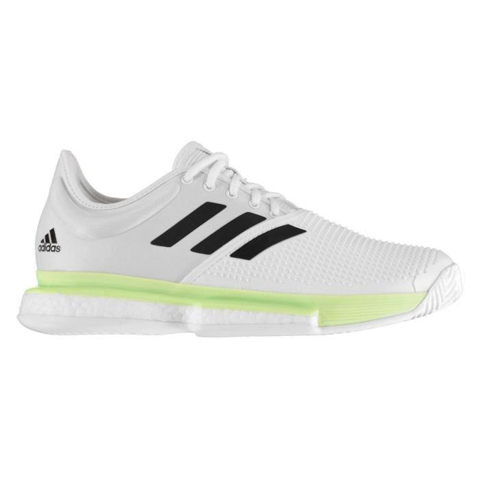Adidas Sole Court B Chaussures De Tennis Blanc/Vert