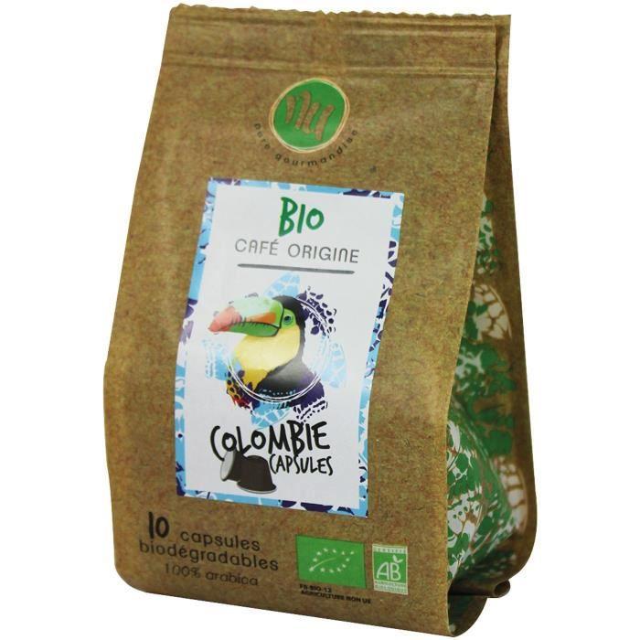 NU Café Bio Colombie Sachet De 10 Capsules