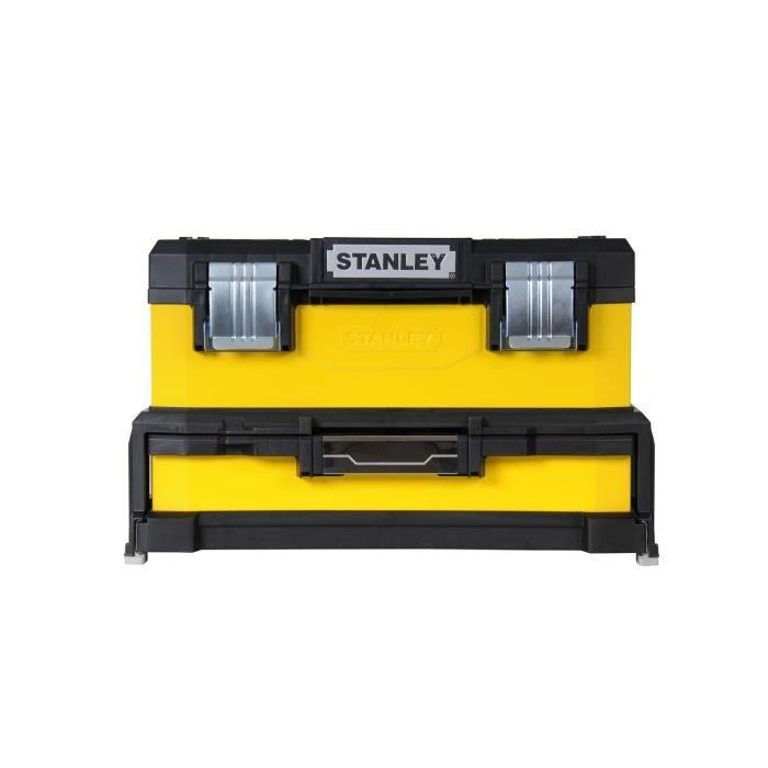 STANLEY Boite à outils à tiroir jaune 51cm vide