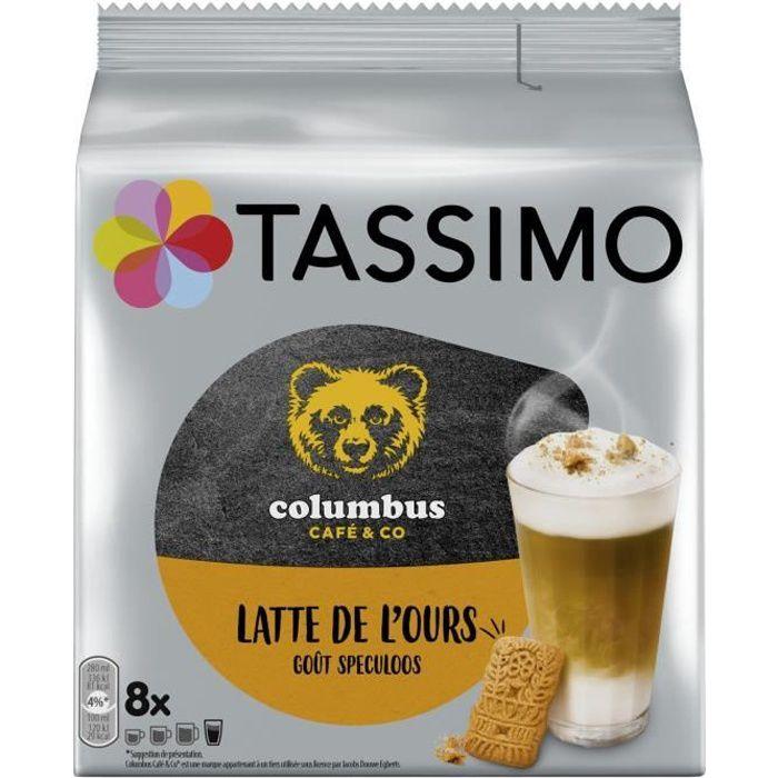 TASSIMO Columbus latte de l'ours goût Spéculoos Café dosettes - paquet de 8 dosettes