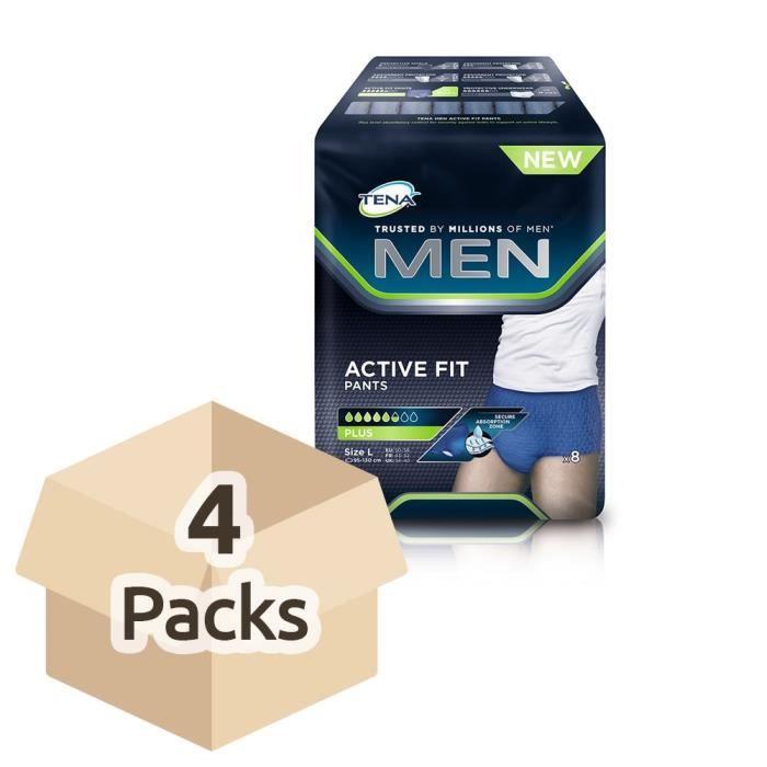 TENA Men Active Fit Pants - Large - Case Saver - 4 Packs of 8