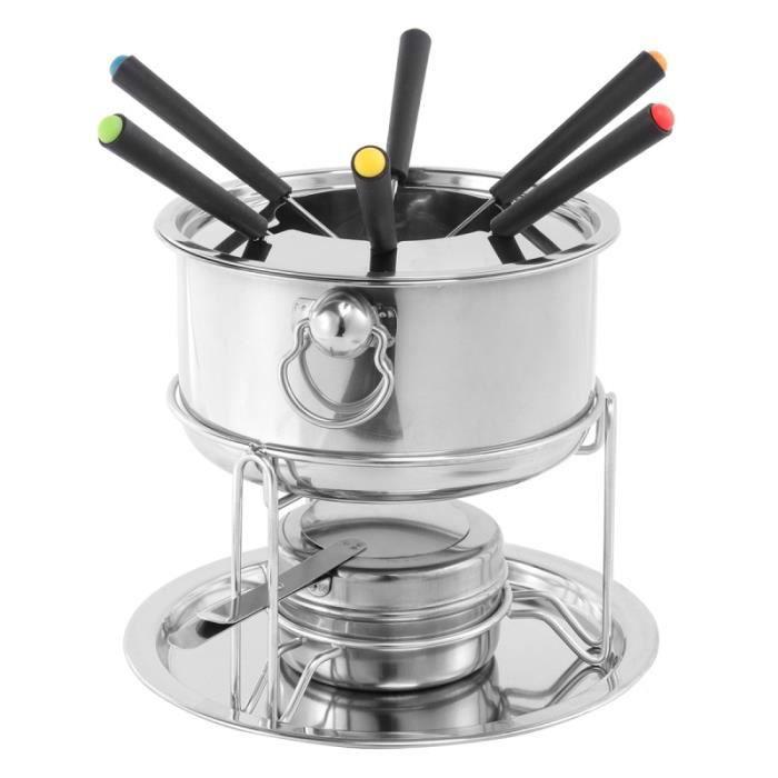 1Pc Kit de Hot Pot à Chocolat en Acier Inoxydable de Crème Glacée avec ROBOT MULTIFONCTIONS - ROBOT MENAGER - ROBOT DE CUISINE