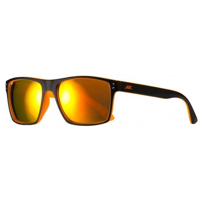 lunettes Zestde soleil unisexes noir mat/orange