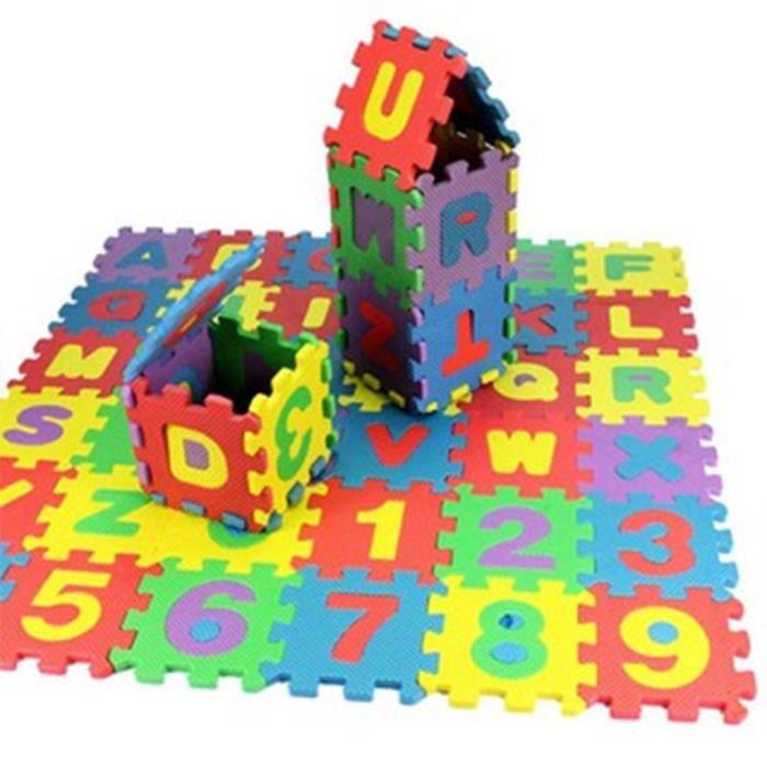 72Pcs Tapis Mousse Puzzle Tapis de Jeu Bebe Tapis Sol Enfant