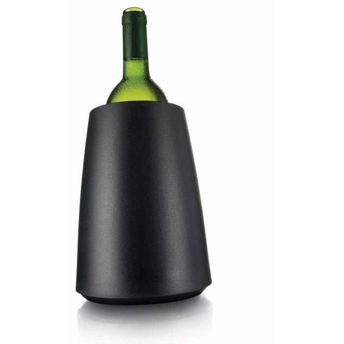 Vacu Vin 3649460 Seau à vin Plastique Noir 20 cm x 14,5 cm 14,5 cm