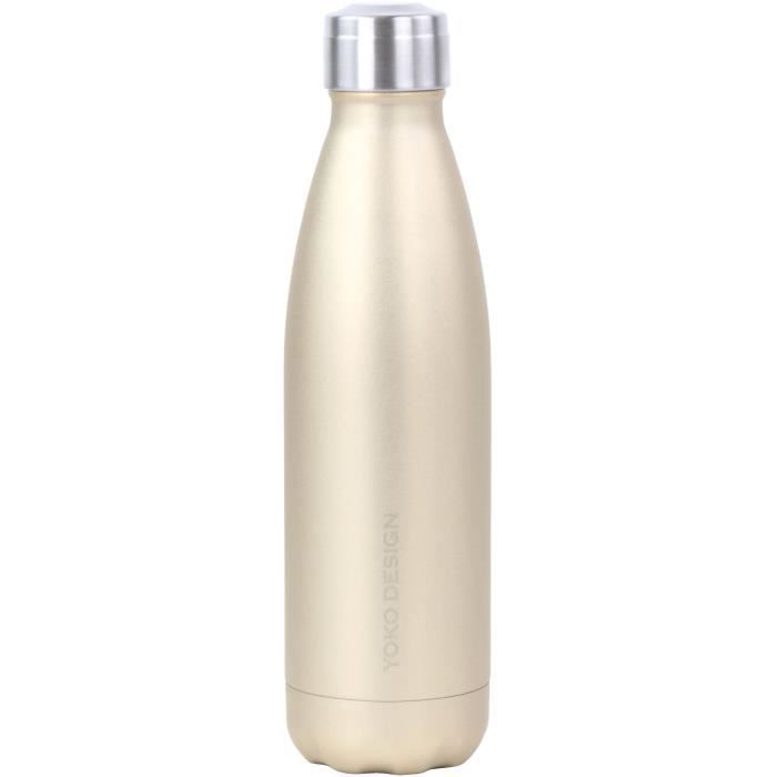 YOKO DESIGN Fancy bottle double paroi 500 ml or pailleté
