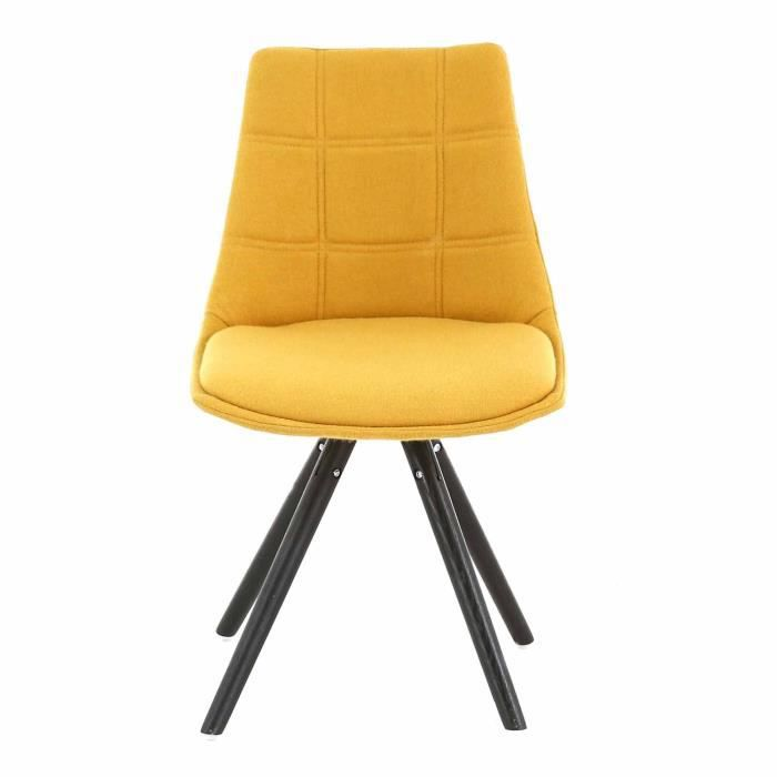 joy chaise jaune moutarde avec pi tement compas design scandinave jaune achat vente chaise. Black Bedroom Furniture Sets. Home Design Ideas