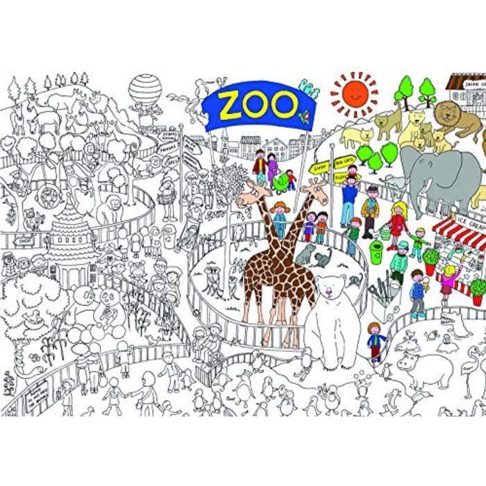 Jeu De Coloriage UW1P2 Zoo coloriage en Poster - Taille ...