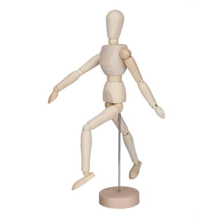 Jeanoko Mannequin en Bois Flexible Dessin Figure Artiste Croquis mod/èle Durable pour Art Croquis d/écoration de la Maison
