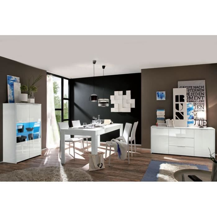 salle a manger laque blanc achat vente salle a manger. Black Bedroom Furniture Sets. Home Design Ideas
