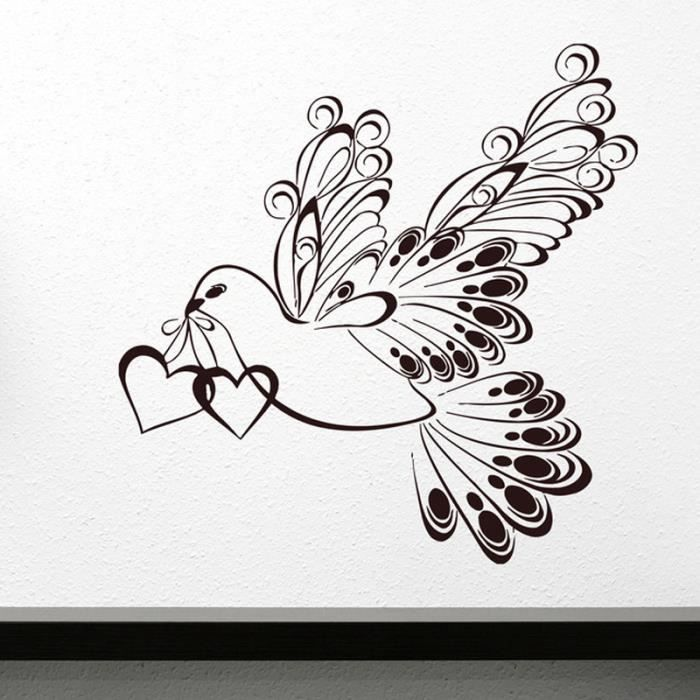 Stickers muraux amour achat vente stickers muraux - Grand stickers muraux pas cher ...