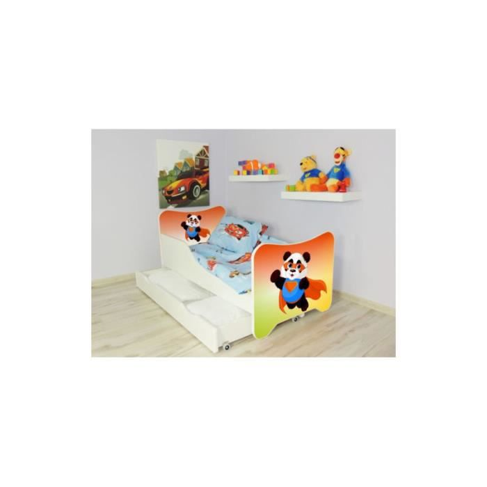 lit enfant et b b 160 x 80 cm avec matelas et tiroirs super panda achat vente structure de. Black Bedroom Furniture Sets. Home Design Ideas
