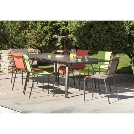 table de jardin extensible 180 240 en acier gal achat vente table de jardin table de jardin. Black Bedroom Furniture Sets. Home Design Ideas