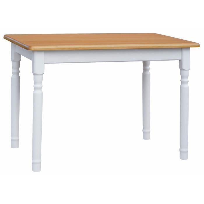 Table 60 X 60 Cm Blanc Aune Rectangulaire Pour Cuisine Ou Salle A