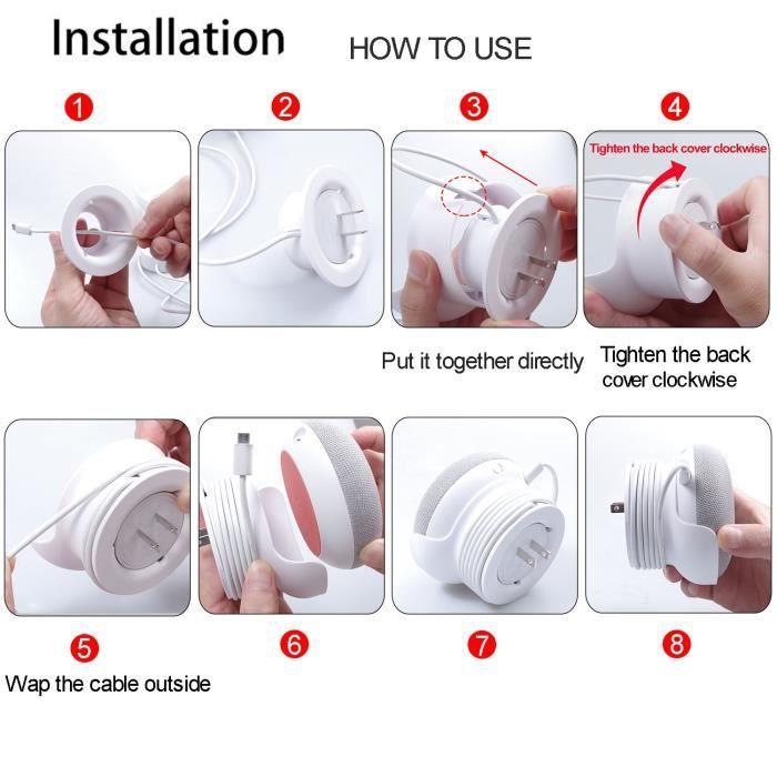 Pour Google Home Support Mural Mini Voice Assistant Suspension Murale Compact 1T