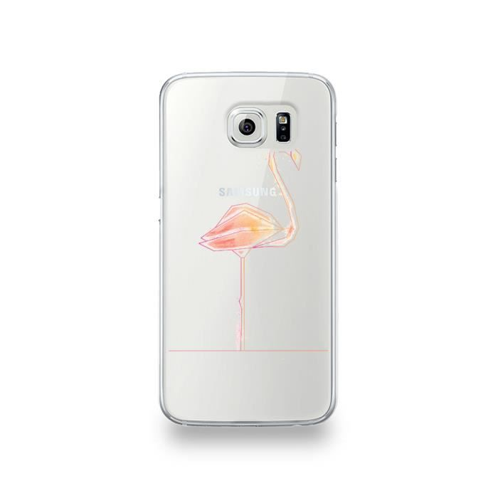 coque samsung galaxy s6 flamant rose