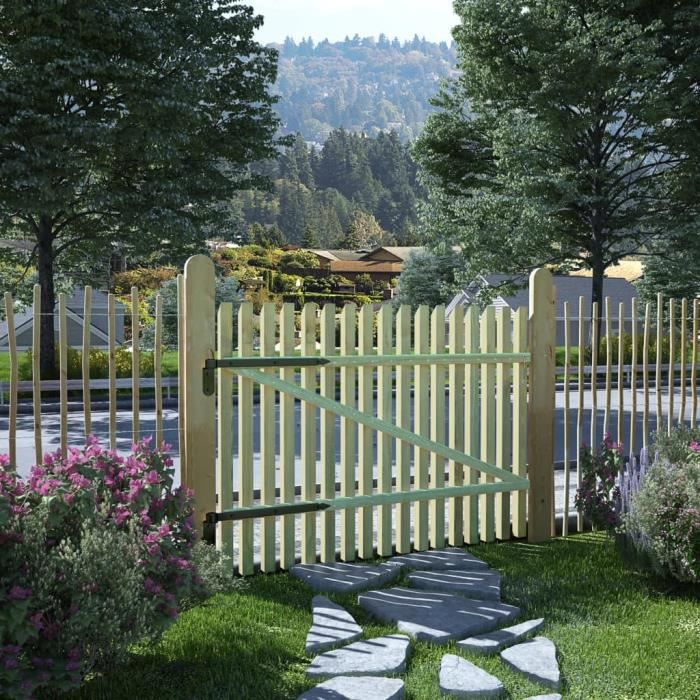 Festnight Portillon Bois de Jardin Portail de Jardin Cloture ...
