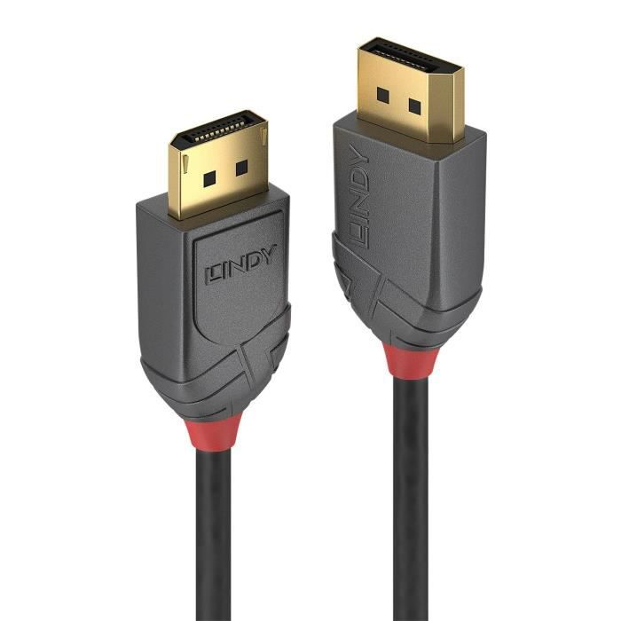 CÂBLE AUDIO VIDÉO LINDY Câble DisplayPort 1.4 - Anthra Line - 2m