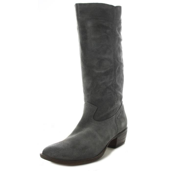 DIESEL bottes santiag en cuir femme DUSTY 8087 gris gris