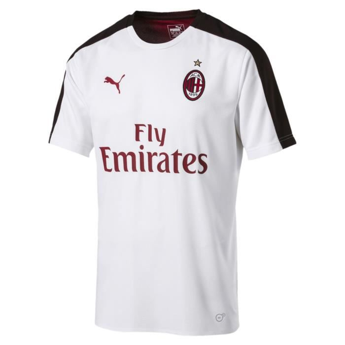 1333d63f006 Clubs italiens Football Puma Ac Milan Maillot Domicile 2018 2019 Hommes  Rouge-Noir Footb