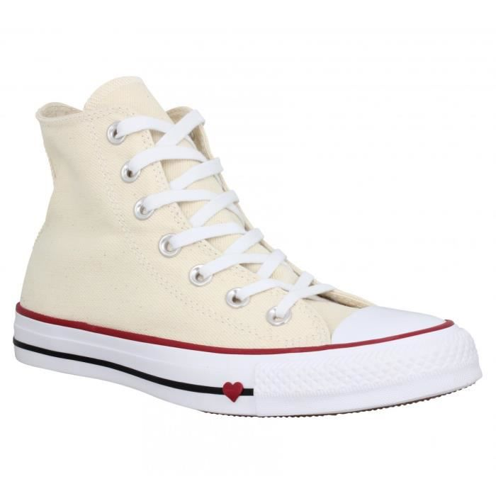 140994ba85bb Baskets CONVERSE Chuck Taylor All Star Hi toile Femme-36-Natural ...