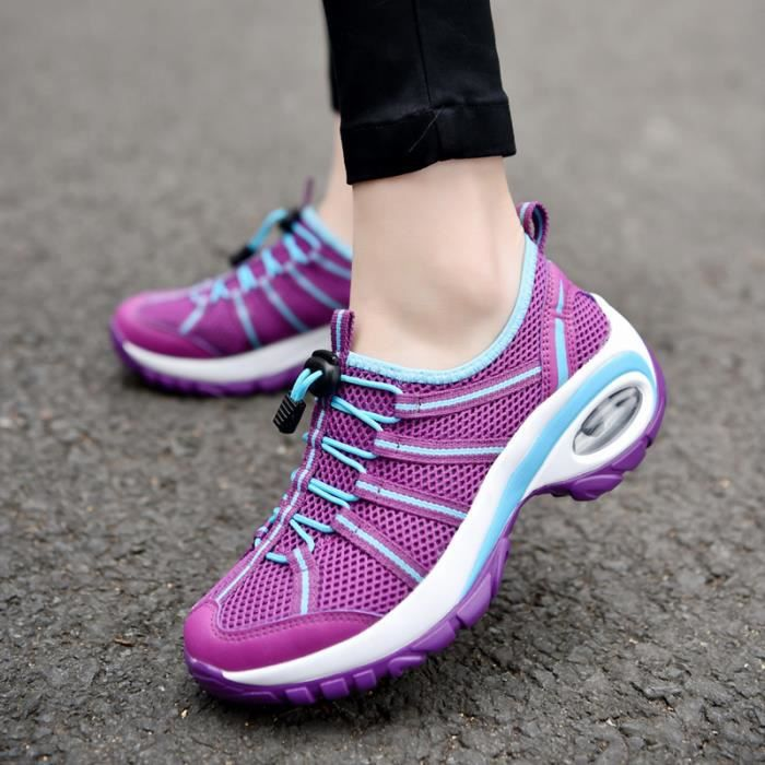 Fitness Course Air Sport Running Baskets Multicolore Violet Femme Respirante Sneakers Jogging Gym Style noir gris Chaussures Lacet rpqn4BpFAW
